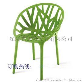 家居塑料凳子 镂空椅时尚餐椅 户外休闲椅靠背椅子 厂家批发