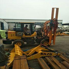 山东厂家直销TZ-260打桩机 液压锤护栏打桩机 道路抢修护栏打桩机 厂家