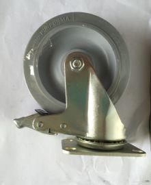 廠家直銷5寸軟膠TPR萬向腳輪,靜音腳輪