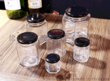 儲物密封罐,六棱果醬瓶,蜂蜜玻璃瓶