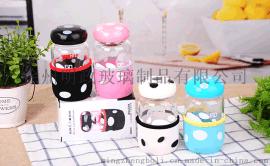 蘑菇杯玻璃杯厂家带杯套茶隔泡茶杯情侣杯