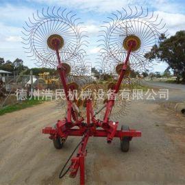 指盘式搂草机牧草机械 搂草盘农业机械牵引式搂草机