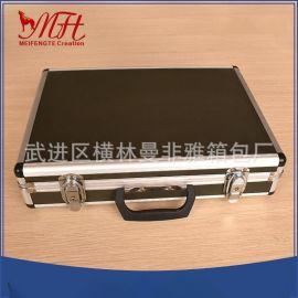 廠家直銷鋁合金航空金運輸箱、防水器材工具箱、手提樣品箱