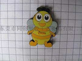 卡通PVC鑰匙扣定做  PVC塑膠公仔鑰匙扣  平面小蜜蜂鑰匙扣