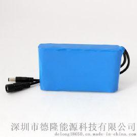 12V4Ah锂电池组批发 定制摄像监控锂电池 电动按摩椅电池