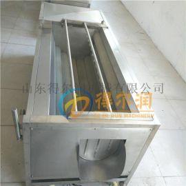 土豆去皮清洗机 毛刷自动脱皮设备 根茎蔬菜清洗机