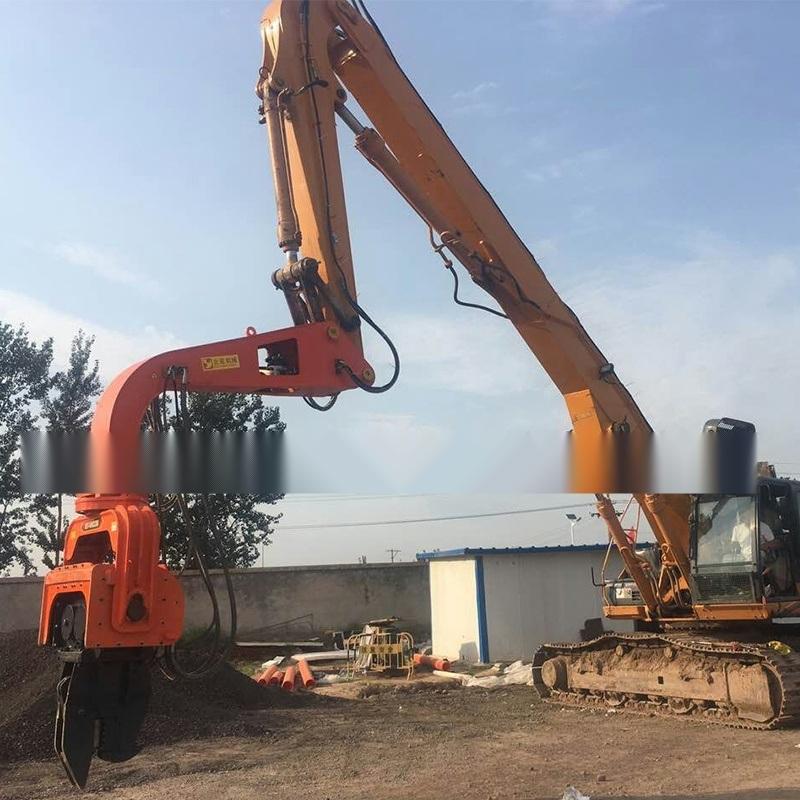 挖掘机改打桩机/打钢板桩机/9米钢板桩