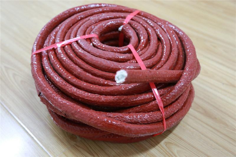 厂家大量供应 耐高温玻纤硅胶防护盘根