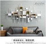 墙上置物架北欧铁艺实木装饰书架