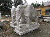 石雕汉白玉晚霞红石象雕刻吉祥如意动物雕塑