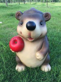 泰州仿真卡通苹果刺猬厂家 宿迁园林景观雕塑哪家有
