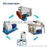 3-4吨每小时粉料机组 粉状饲料工程 饲料机械厂家