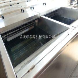 大型水浴式藕片漂烫机 藕片清洗漂烫速冻生产线设备