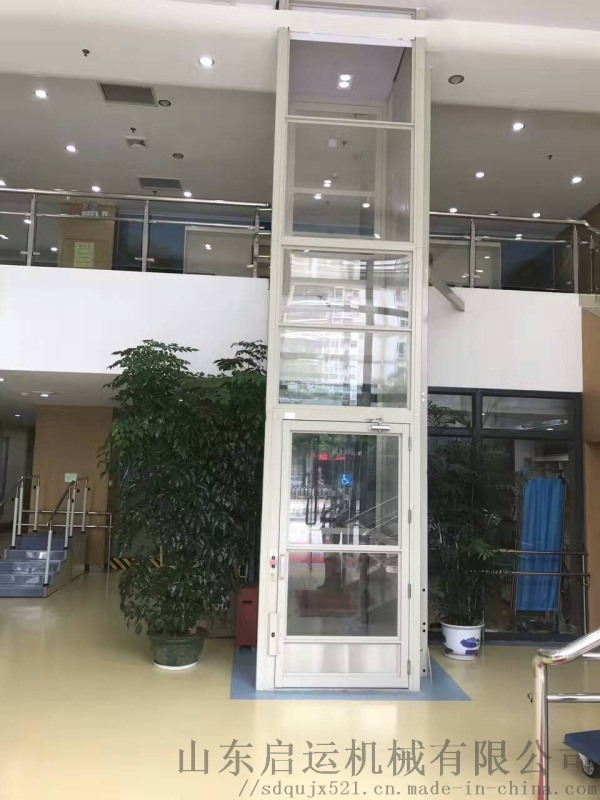低噪音无障碍平台启运观光电梯鄂州市升降台
