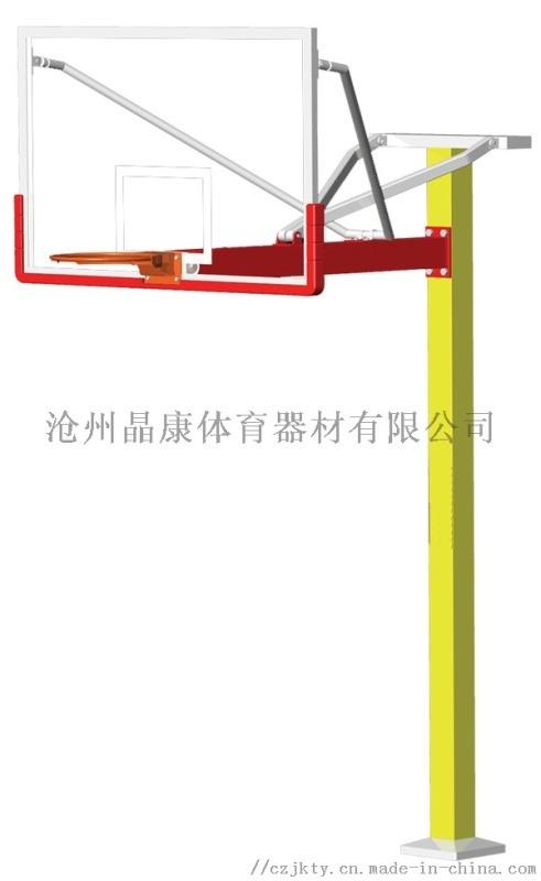 方管地埋篮球架 哈尔滨篮球架 固定式篮球架