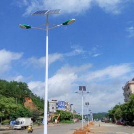 新农村双头太阳能路灯6米100wLED户外灯厂家