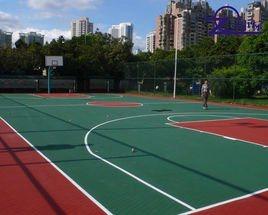 廣西資源國土局室外矽PU籃球場施工