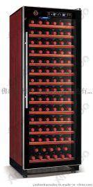 雅绅宝恒温酒柜 茶叶冷藏展示柜 茶叶保鲜展示柜 BJ-308A黑色实木酒柜 吧台专用红酒柜