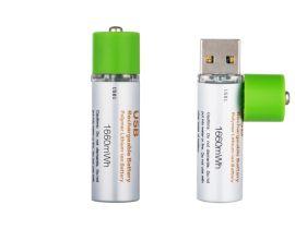 USB快充聚合物AA/14500/5号锂电池