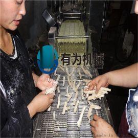 多春鱼上浆机 多春鱼裹糠设备 毛毛鱼油炸线