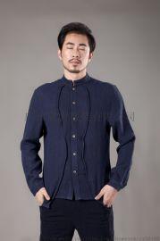 中国风唐装汉服男式圆领衬衫时尚休闲男装中式上衣