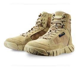 作战靴陆战靴超轻春夏沙漠战术靴特种兵登山鞋户外男女07透气军靴