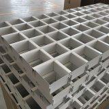 10*35鋁格柵天花吊頂 白色/灰色格子條形鋁天花