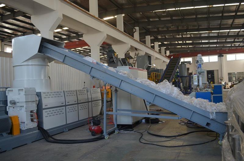 PP编织袋撕碎清洗造粒回收再生设备 塑料编织袋吨包清洗线