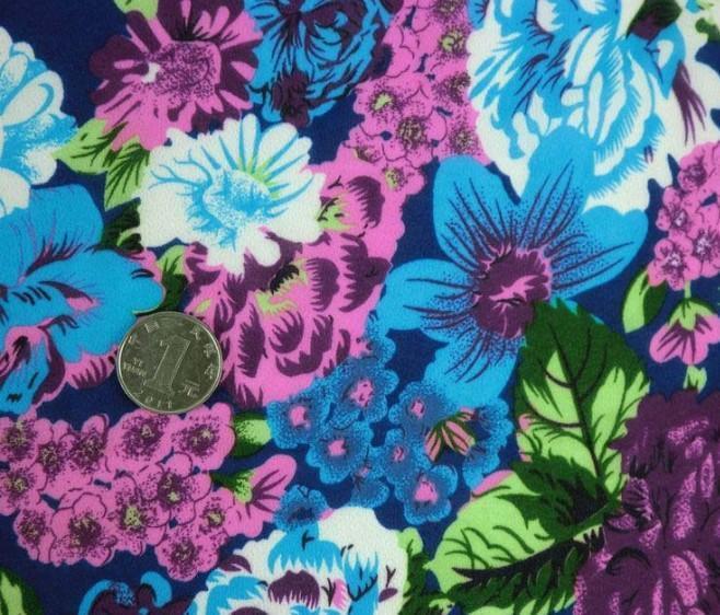 韩版 雪纺 夏秋季女装 抽象花卉印花面料