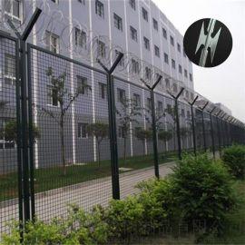 安平监狱护栏网 钢板网隔离栅 围墙滚笼防攀隔离网
