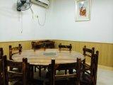 仿古实木餐厅台凳碳化木碳烧木桌椅圆台八仙台