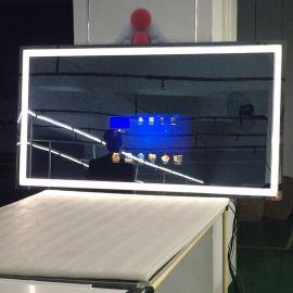 洗手间镜面防水21.5寸触摸智能蓝牙LED电视LED灯带镜面电视