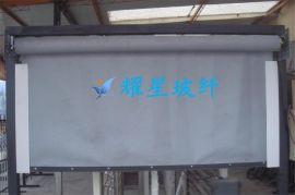 0.4mm硅胶玻纤布 0.4mm防火阻燃布 0.4mm挡烟垂壁布 银灰硅胶布 双面刮胶玻纤布
