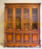 厂家批发欧式实木书柜书架四门储物柜
