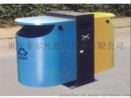 四川广元户外果皮箱,果皮桶,分类钢制垃圾桶厂家