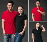 文化衫工作服厂家生产翻领文化衫定制 可定做指定颜色翻领T恤可加印广告