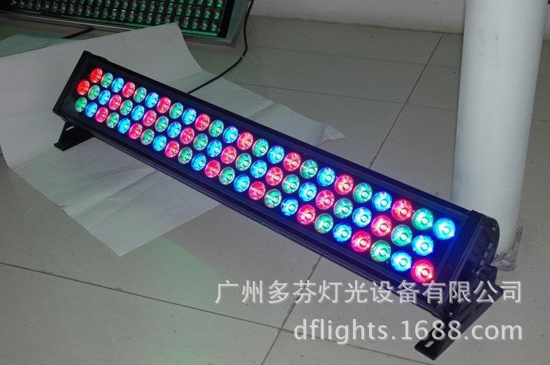 厂家直销72颗3W LED全彩防水洗墙灯 质保三年舞台灯光
