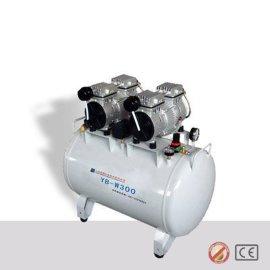 排量300L医用勇霸静音无油空气压缩机 一拖四 YB-W300
