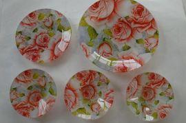 2013秋季新品 钢化玻璃盘(由小到大)