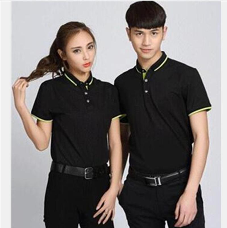 工作服定制T恤印logo短袖工衣服装diy企业文化广告Pol