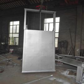电动气动双手动板阀穿透式圆形污水气动粉体方形不锈钢插板阀闸门