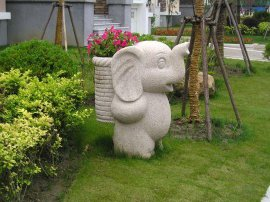 东莞雕塑厂家促销园林景观特色花钵 石雕花钵批发