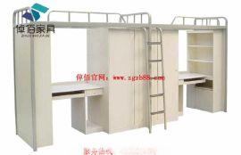 河南公寓组合床 大学公寓床厂家 公寓床系列 钢制公寓床规格