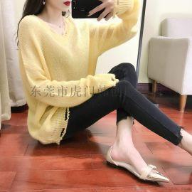 便宜毛衣韩版女装针织衫库存服装女士上衣秋冬服装