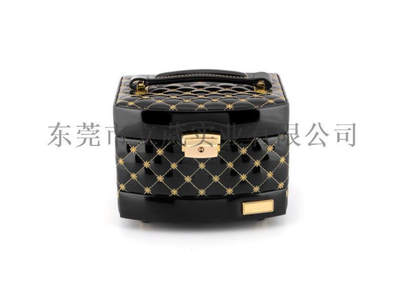 手提皮革首饰盒多层首饰盒纯色化妆盒珠宝盒收纳盒定制