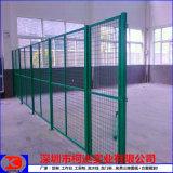 车间铁丝网防护网 仓库黄色隔离网 安装工业安全护栏