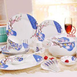 陶瓷餐具 景德镇日用陶瓷餐具碗盘套装
