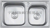 创新厨电群松加深水槽304不锈钢双槽洗菜盆