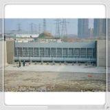 甘肅農田水利鋼壩閘,弧形鋼壩閘,崇鵬水利液壓翻版閘門