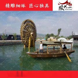 木船厂家供应景区游船 观光旅游船 乌篷木船出售